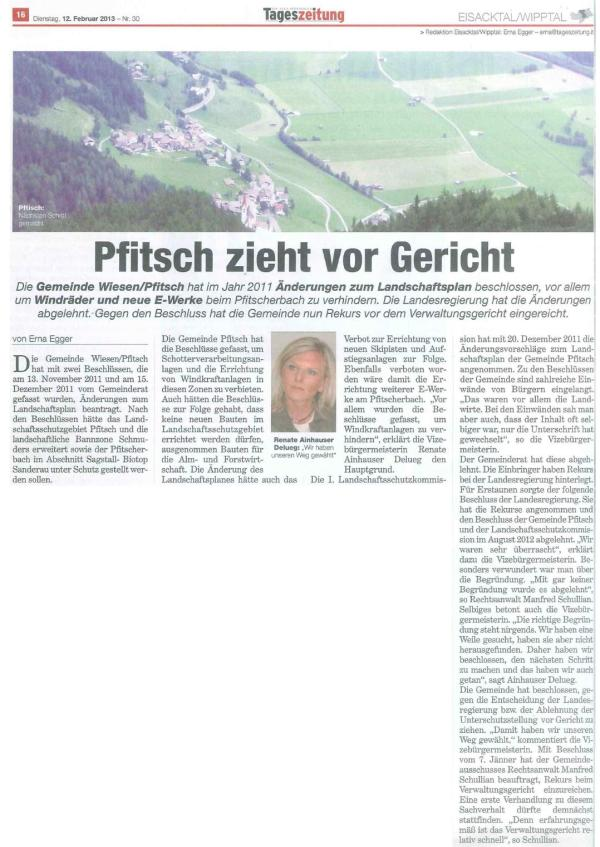 Neue Südtiroler Tageszeitung 12.02.2013